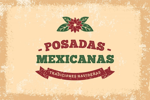 Fundo vintage posadas mexicanas