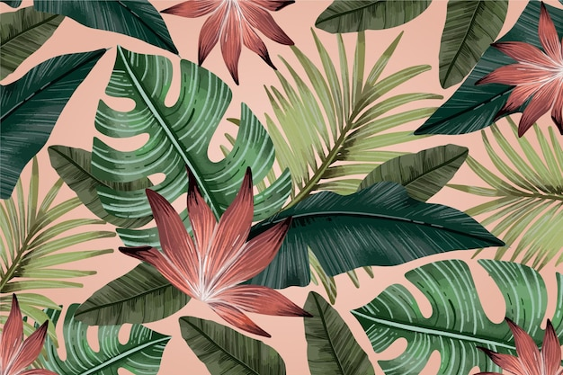 Fundo vintage tropical