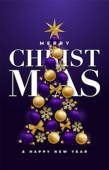 Fundo violeta feliz natal