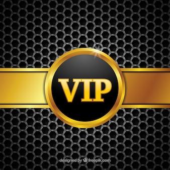 Fundo vip abstrato com emblema dourado