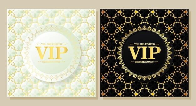 Fundo vip estilo vintage padrão
