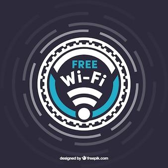 Fundo wifi grátis com detalhes azuis