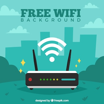 Fundo wifi verde