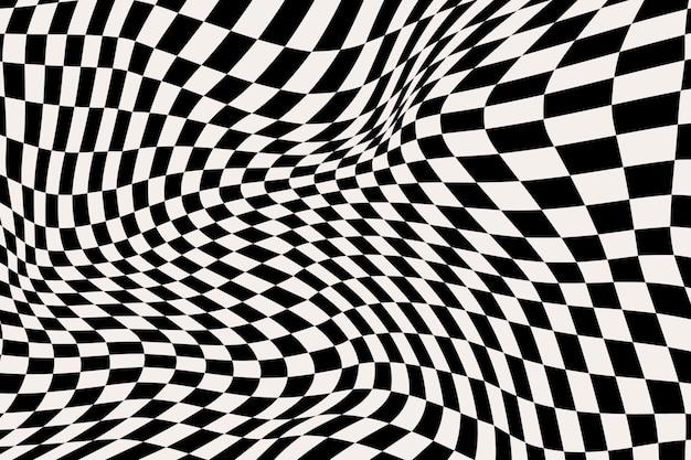 Fundo xadrez distorcido abstrato