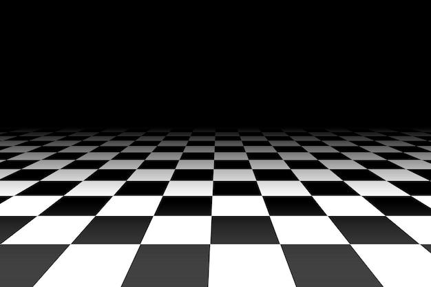 Fundo xadrez em perspectiva