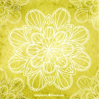 Fundo yoga amarelo com flores