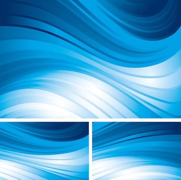Fundos abstratos azuis da árvore