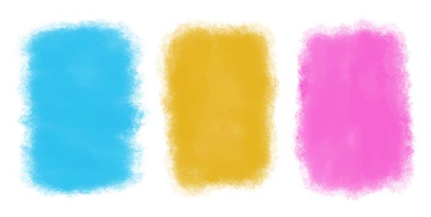 Fundos abstratos coloridos em aquarela