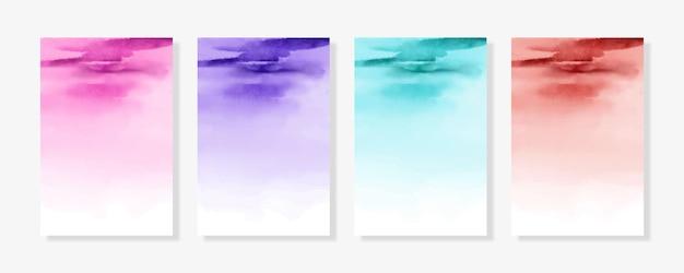 Fundos abstratos de aquarela para cartões de convite de casamento textura aquarela
