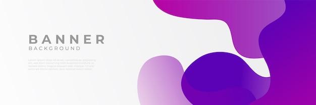 Fundos abstratos do modelo de design de banner horizontal roxo moderno
