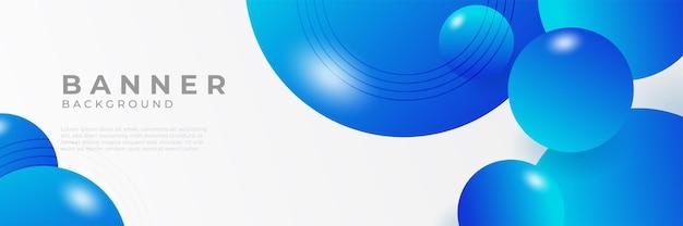 Fundos abstratos do modelo de design de banner web horizontal azul moderno