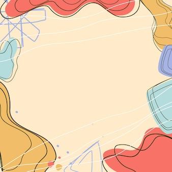 Fundos abstratos fundo pastel abstrato moderno fundo na moda estilo memphis
