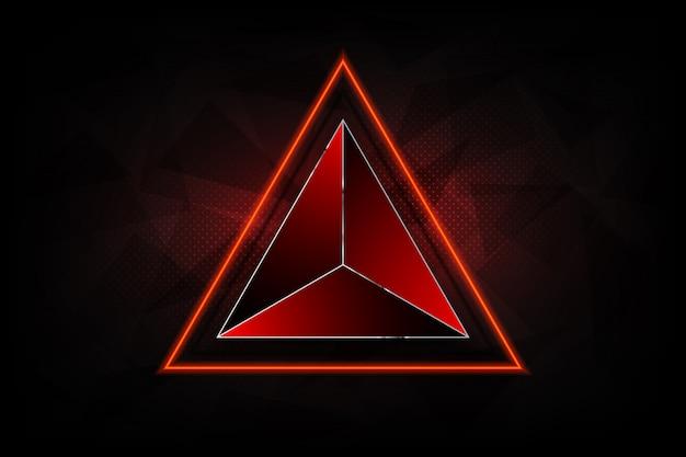 Fundos abstratos futuristas de tecnologia, triângulo colorido