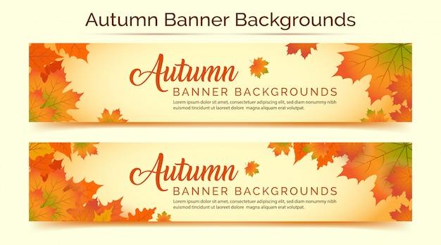 Fundos de banner de outono