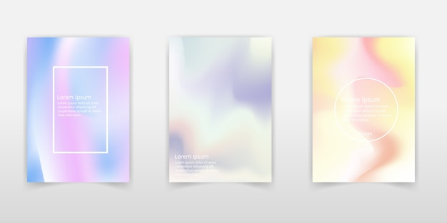 Fundos de cores fluidas definido.