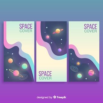 Fundos de espaço sideral de gradiente