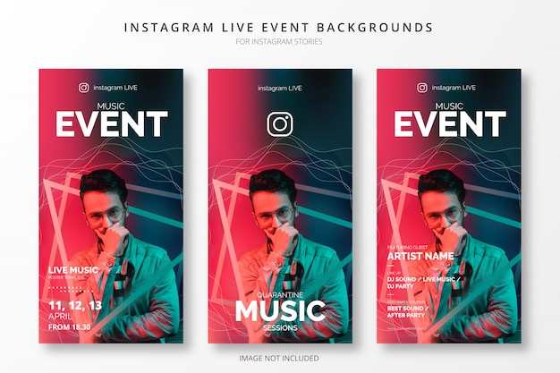 Fundos de eventos ao vivo do instagram para histórias insta