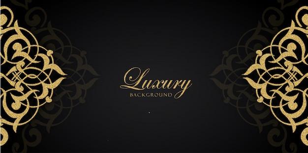 Fundos de luxo dourado e preto glitter