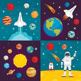 Fundos de planetas do espaço