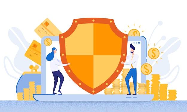 Fundos de proteção do sistema bancário eletrônico