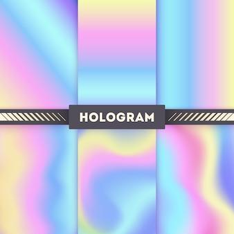 Fundos de vetor de holograma colorido para adesivo