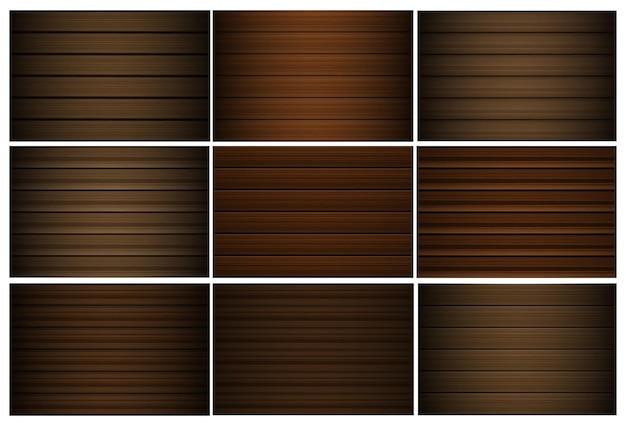 Fundos de vetor de textura abstrata de madeira