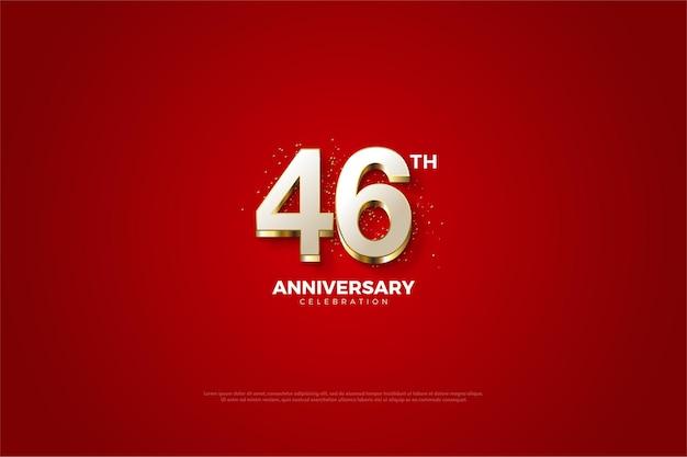 Fundos e números extravagantes para a celebração do 46º aniversário