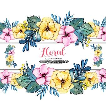 Fundos florais em aquarela