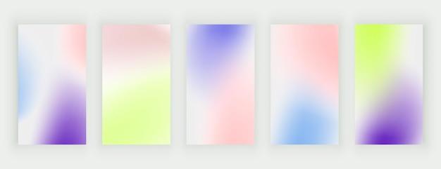 Fundos gradientes de desfoque colorido para histórias de mídia social