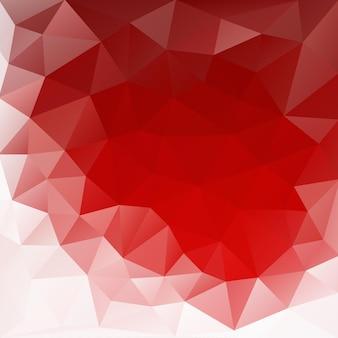 Fundos poligonais com cristais vermelhos