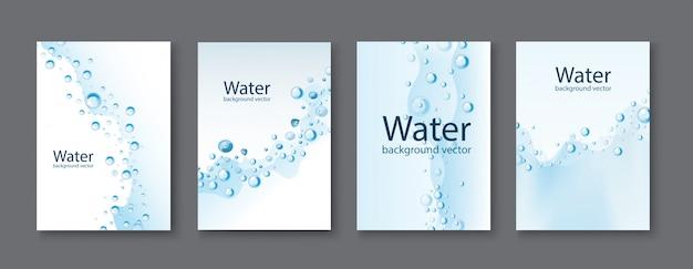 Fundos transparentes das gotas da água abstrata.