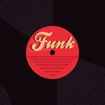 Funk de discoteca de vinil de fundo