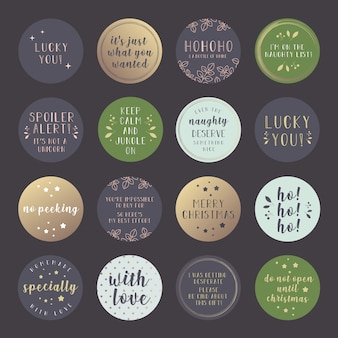 Funny christmas gift stickers