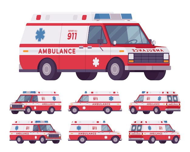 Furgão para ambulância
