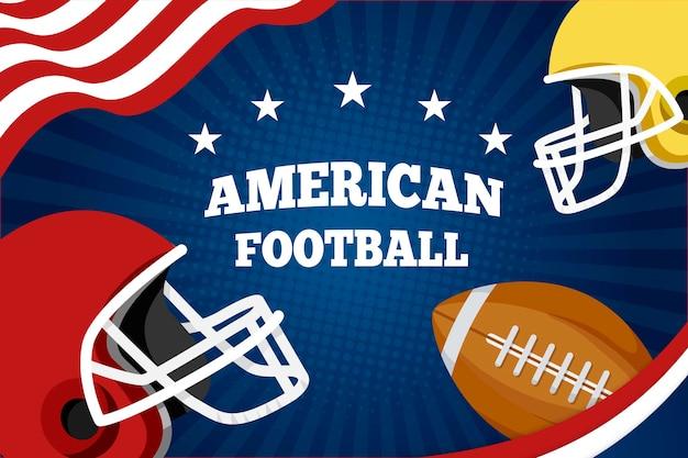 Futebol americano de design plano