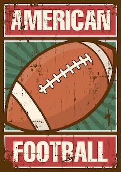 Futebol americano rugby sport retro pop art poster sinalização