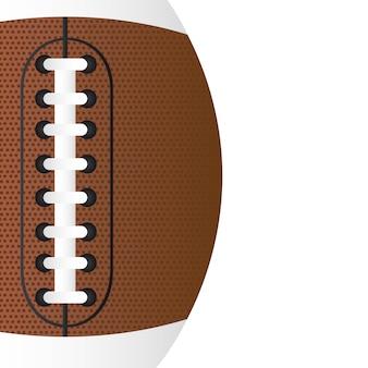 Futebol americano sobre o vetor de fundo branco close-up