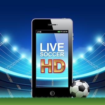 Futebol ao vivo full HD e futebol on-line no celular