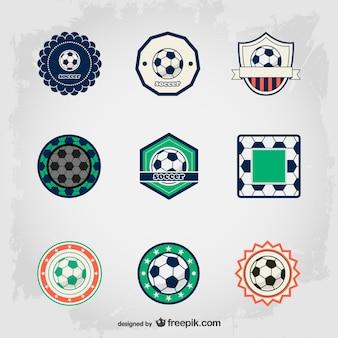 Futebol emblemas livres definir