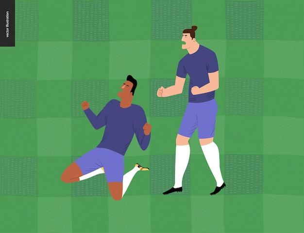 Futebol europeu, jogadores de futebol