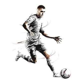 Futebol, futebol, drible, corrida, tacada