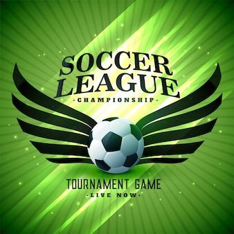 Futebol futebol elegante fundo verde