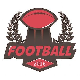 Futebol futebol emblema logotipo design template.