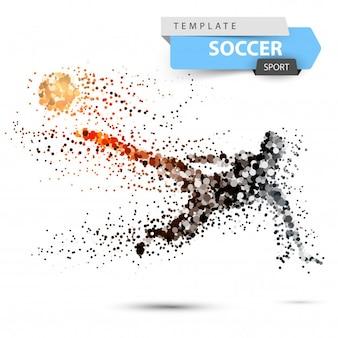 Futebol, futebol - ilustração de ponto com brilho.