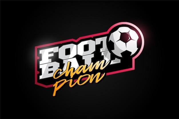 Futebol ou futebol esporte profissional moderno tipografia em estilo retro.