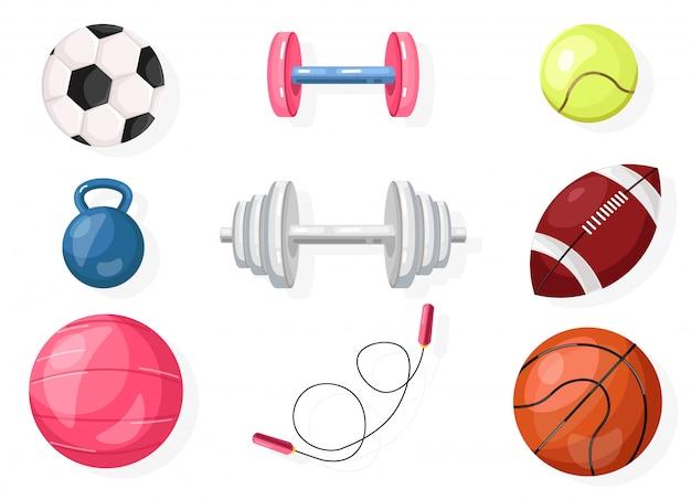 Futebol, rugby, coleção de basquete