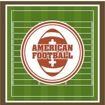 Futebol sobre ilustração verde