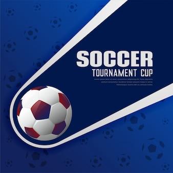 Futebol torneio de futebol esportes cartaz fundo