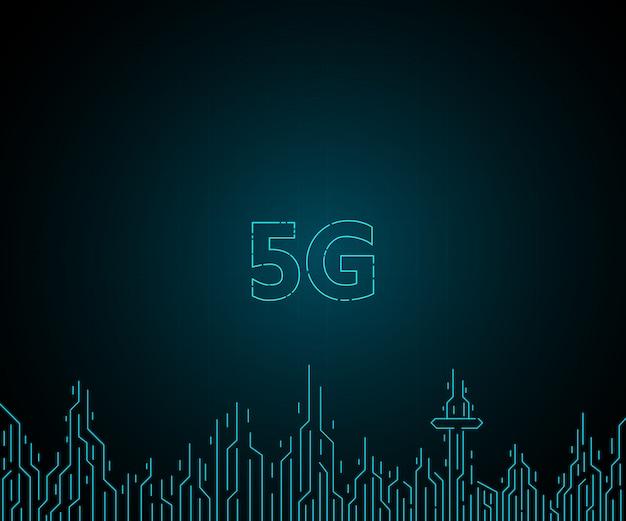 Futura rede de internet sem fio 5g para cidades futuras