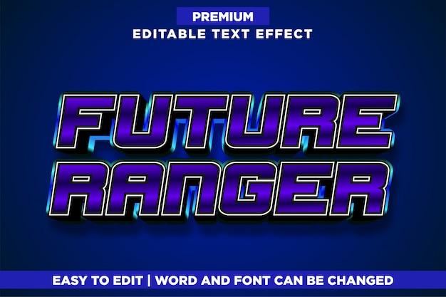 Future ranger, efeito de texto estilo logotipo jogo editável